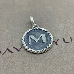 "David Yurman Initial Charm Pendant ""M"""